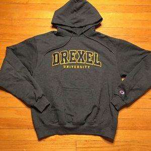 Drexel University Champion Hoodie - Men's Medium